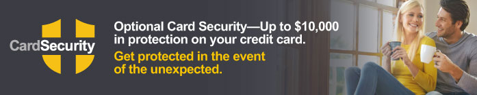 Optional Card Security in the event of the unexpected